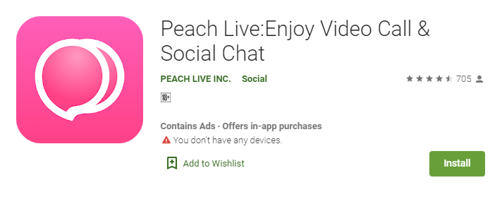 Peach Live App for Mac Laptop and Computer