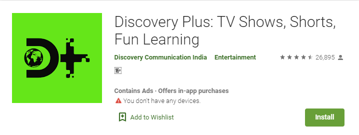 Discovery Plus Free DOwnload for PC Laptop