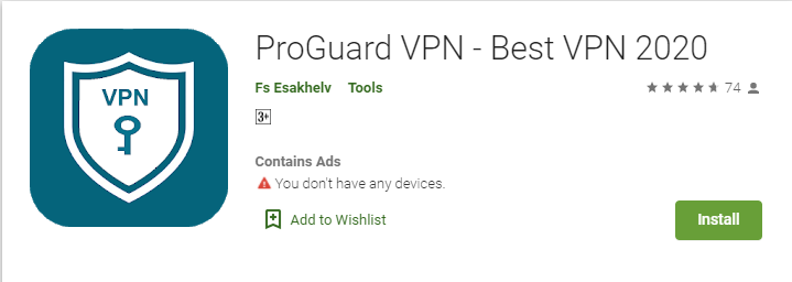 ProGuard VPN for Mac