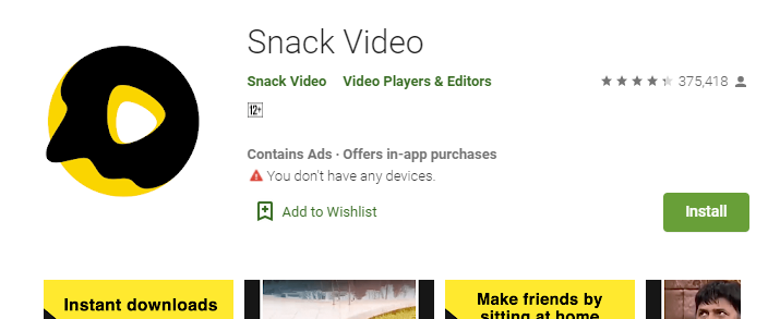 Snack Video for Windows 8.1